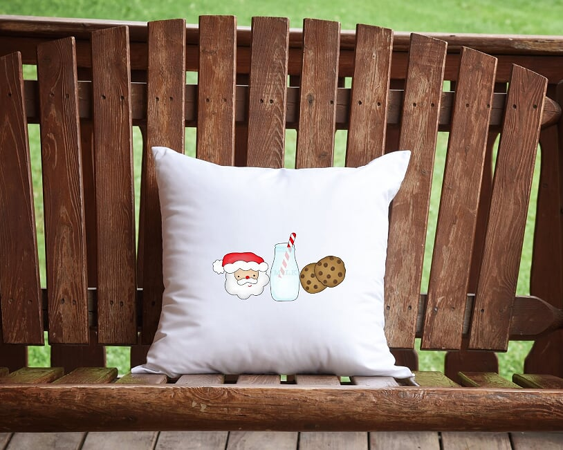 Santa's Milk And Cookies Throw Pillow