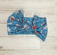 Shark Headwrap Bow