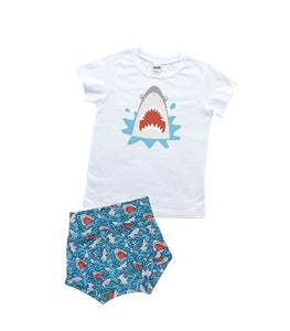 Shark T Shirt And High Waisted Bummies