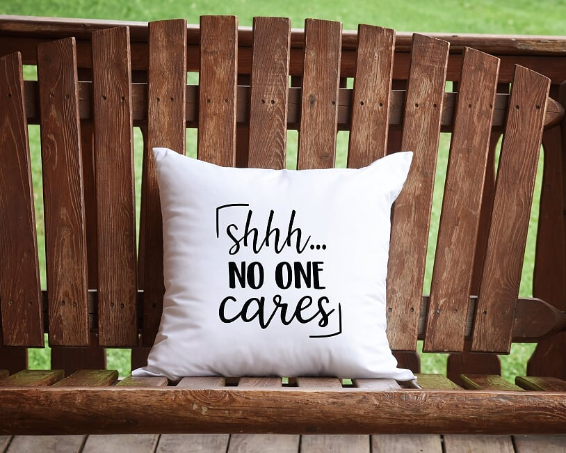 Shhh...No One Cares Throw Pillow