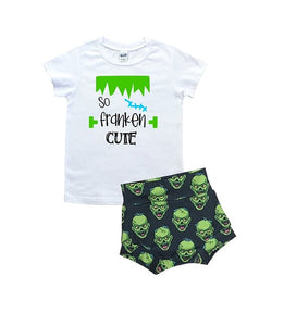 So Franken Cute T Shirt And High Waisted Bummies