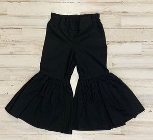 Black Ruffle Bell Bottoms