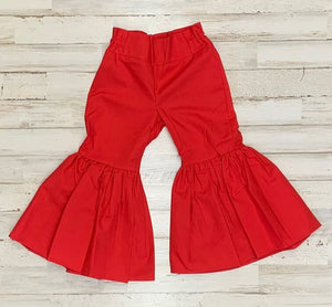 Red Ruffle Bell Bottoms