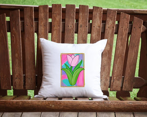 Spring Tulip Throw Pillow