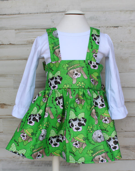 St. Patrick's Day Lucky Dogs Suspender skirt