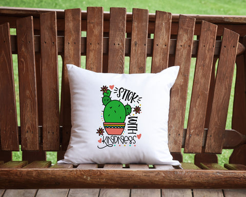 Stick With Kindness Throw Pillow