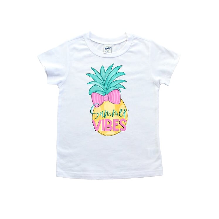 Summer Vibes Pineapple T shirt