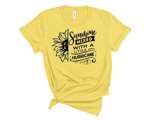 Sunshine Mixed With A Little Hurricane T Shirt