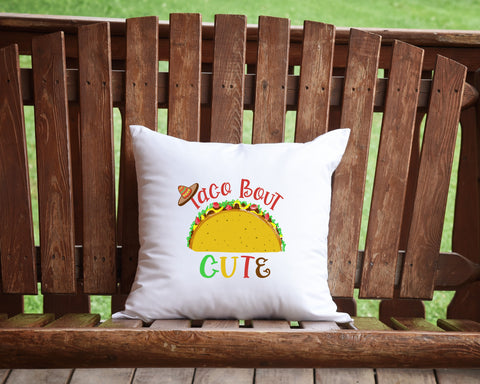 Taco Bout Cute Throw Pillow