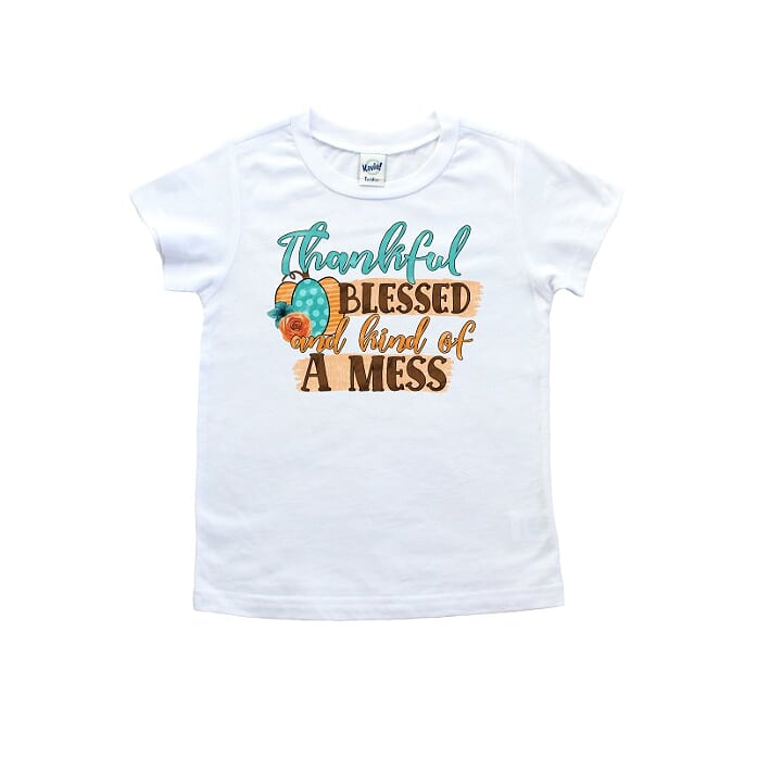 Thankful Blessed And Kind Of A Mess T shirt