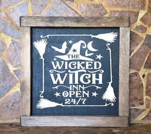 The Wicked Witch Inn sign