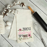 Thou Shalt Not Try Me, Mom Kitchen Tea Towel