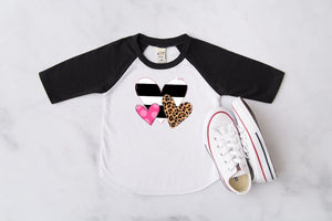 Valentine's Day Hearts Raglan, Multiple Sizes Available