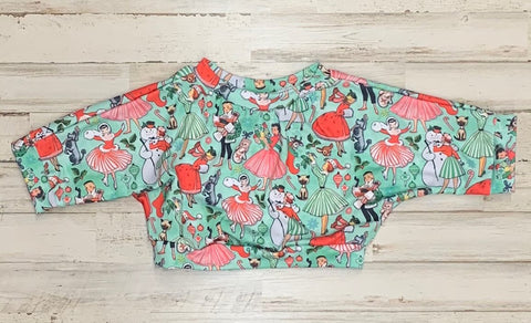 Vintage Christmas Lounge Top