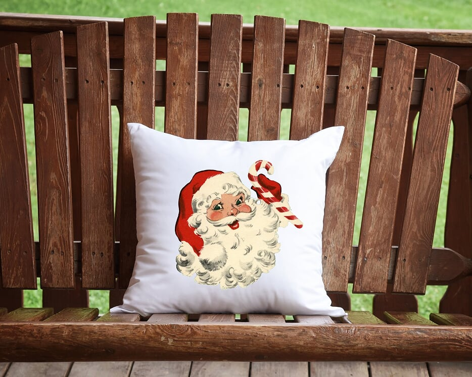 Vintage Santa Throw Pillow