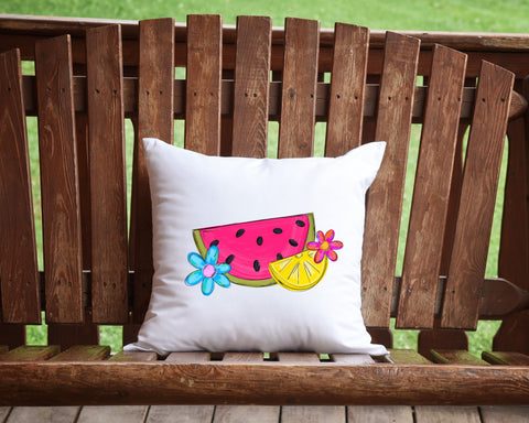 Watermelon Lemon Throw Pillow