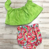 Watermelon Crop Top and Bloomers