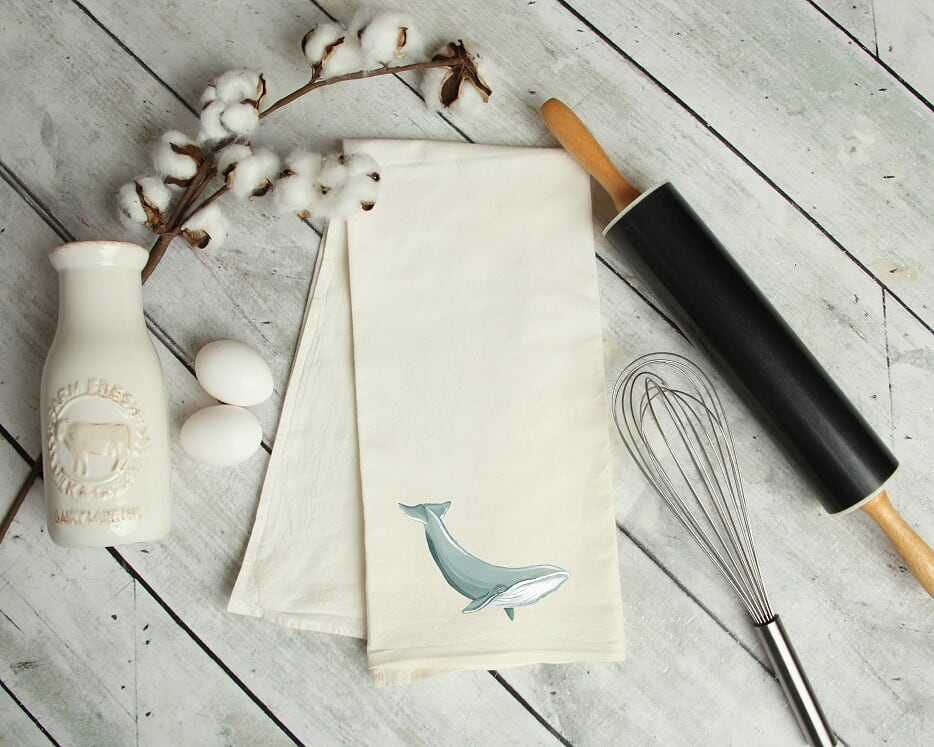 Whale Kitchen Tea Towel
