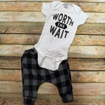 Worth The Wait Infant Outfit