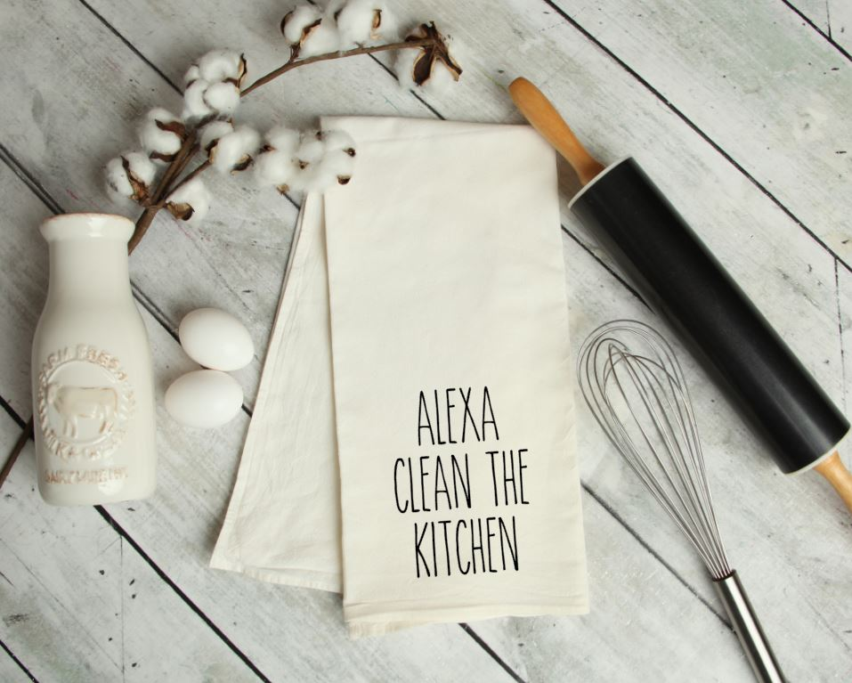 Alexa, clean the Kitchen Towel