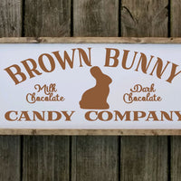 Brown Bunny Candy Company Easter sign