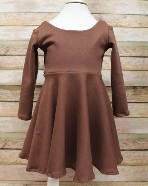 Brown twirl dress