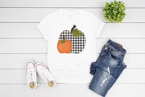 Buffalo Plaid Pumpkin t shirt