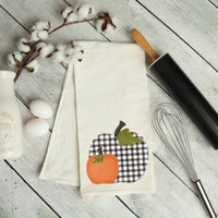 Buffalo Plaid Pumpkin Kitchen Towel