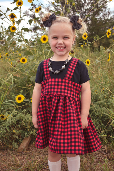 Buffalo Plaid Suspender skirt