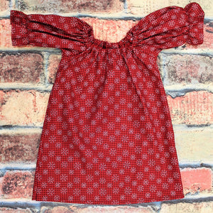 Buffalo Plaid Snowflake Peasant dress