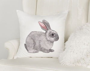 Bunny Rabbit Easter Throw Pillow