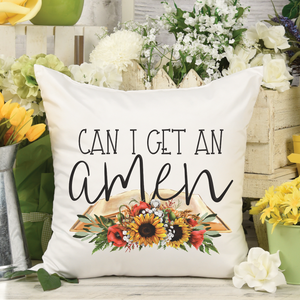 Can I get an Amen Throw Pillow