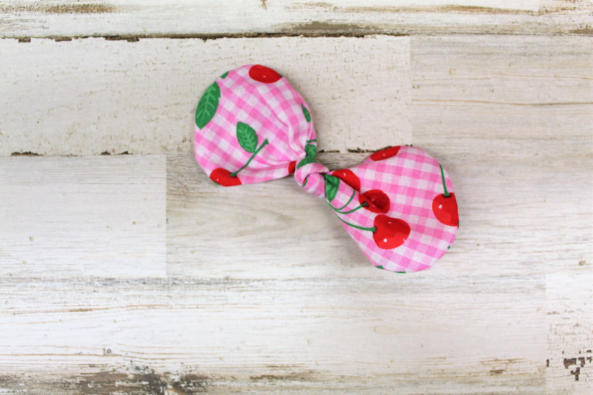 Cherry Knot Hair Bow