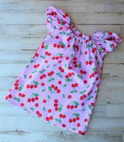 Cherry Peasant Dress