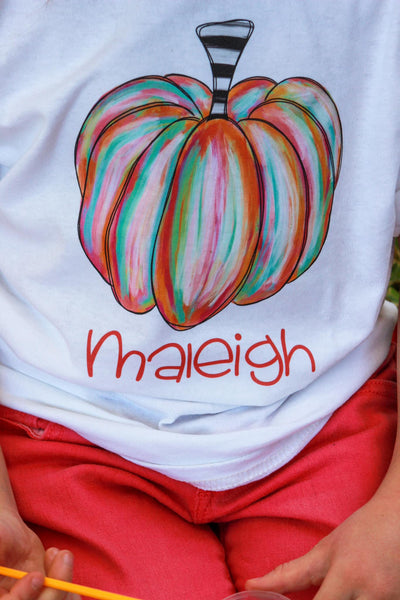 Personalized Watercolor Pumpkin