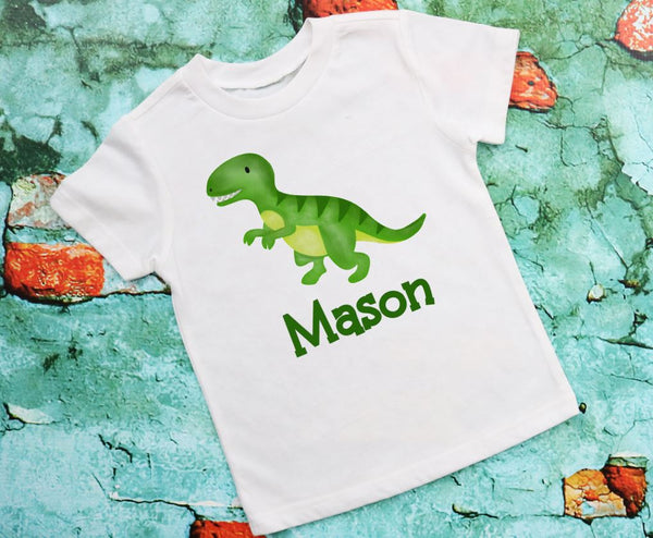 Personalized Dinosaur T shirt