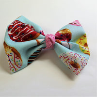Donuts Fabric Hair Bow
