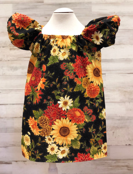Fall Florals Peasant dress
