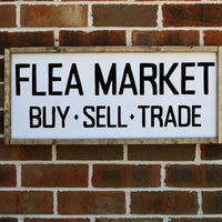 Flea Market Buy Sell Trade Sign