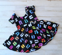 Flip flop twirl dress