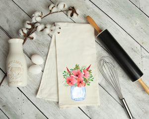 Floral Mason Kitchen Towel