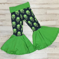 Frankenstein Knit Ruffle Bell Bottoms