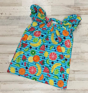 Fruity Tooty Peasant Dress