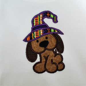 Fall Puppy Dog Applique Shirt