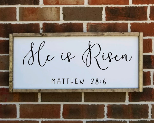 He is Risen Matthew 28:6 sign