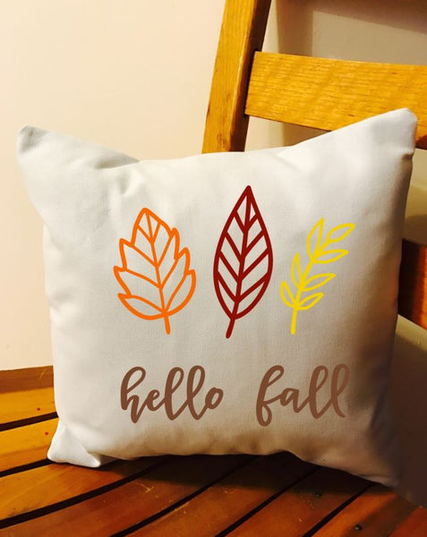 Hello Fall Throw Pillow