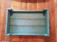 Turquoise Decorative Wooden Serving Tray