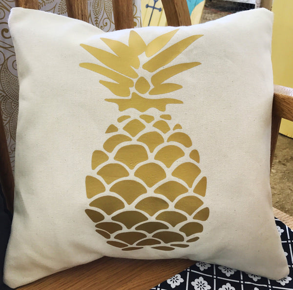 Golden Pineapple throw pillow