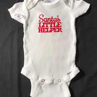 Santa's little helper onesie - Christmas onesie - Size 0 - 3 months - Funny Onesie - Shower gift - baby clothes - baby gifts SALE 50% OFF