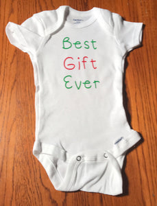 Best gift ever Christmas onesie - Christmas onesie - - Funny Onesie - Shower gift - baby clothes - baby gifts